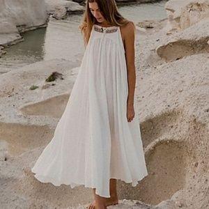 Free People mancora lace oversized midi dress NEW